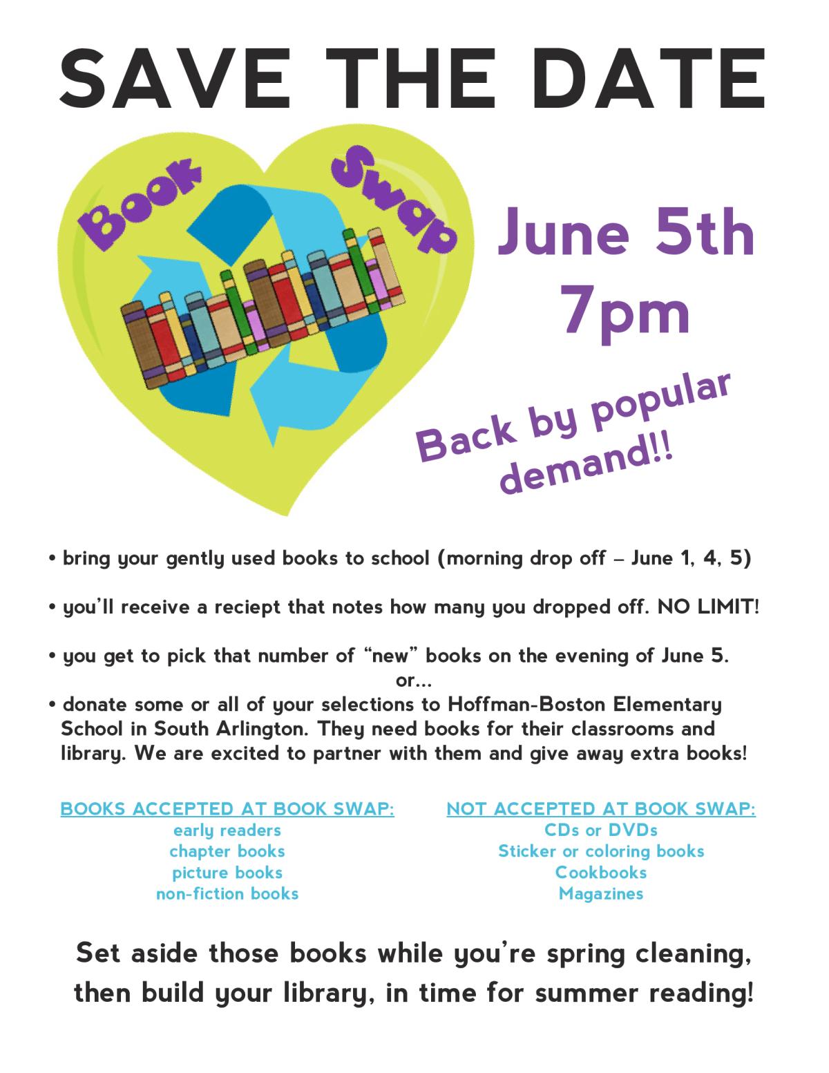 Book Swap – June 5th
