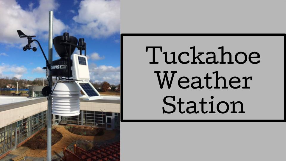Tuckahoe Weather Station –  check it out!