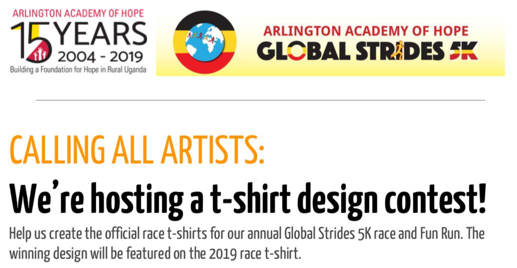 Global Strides 5K T-Shirt Design Contest